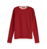 Maison Scotch Breton long sleeve tee in front
