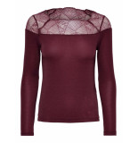 Only Aya longsleeve lace lurex top