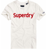 Superdry Reg. flock entry tee wit