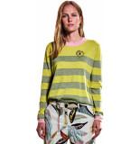 10 Feet Round neck longsleeve striped pull mos& yellow geel