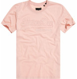 Superdry Vl emb outline entry tee whip roze