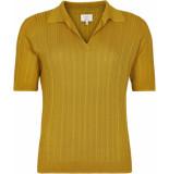 Numph Nuaubree pullover tawny geel
