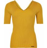 Numph Nuayelet pullover tawny yellow geel