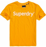 Superdry Reg. flock entry tee geel