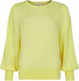 Numph Nuazaria pullover geel