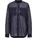 G-Star Parota classic bf shirt wmn l\s blauw