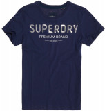 Superdry Premium sequin entry tee blauw