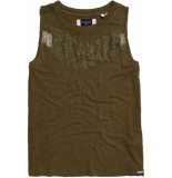 Superdry Chevron lace top olive