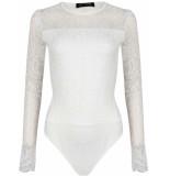 LOFTY MANNER Bodysuit velma white wit