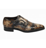 MioTinto Herenschoenen gesp schoenen bruin