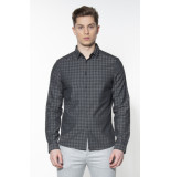 Calvin Klein Casual overhemd met lange mouwen grijs