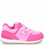 New Balance 574 klittenbandschoen roze