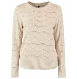 Y.A.S Rubina knit pullover beige