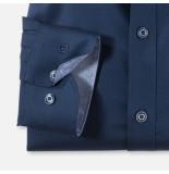 Olymp Level 5 bodyfit overhemd shirt 2054-18 blauw