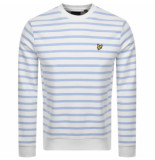 Lyle and Scott Breton stripe sweatshirt blauw