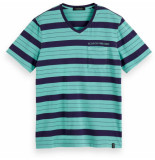 Scotch & Soda Washed v-neck tee with chest pocket