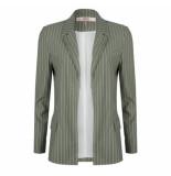 Esqualo Sp20.16019 blazer thin stripe groen