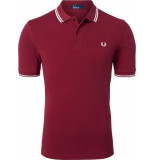 Fred Perry Twin tipped polo claret rood