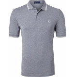 Fred Perry Twin tipped polo steelmrl/snw/snw grijs