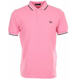 Fred Perry Twin tipped polo bright pink roze