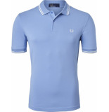 Fred Perry Twin tipped polo sky/snow white