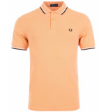 Fred Perry Twin tipped polo apricot nectar oranje