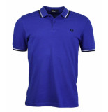 Fred Perry Twin tipped polo rich blue blauw