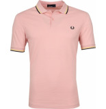 Fred Perry Twin tipped polo silver pink roze