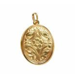 Christian Gouden medaillon hanger met fotolijst geel goud
