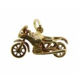 Christian Gouden dual sport motor hanger geel goud