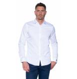 Cast Iron Cobra casual overhemd met lange mouwen wit