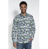 Blue Industry Casual overhemd met lange mouwen groen
