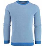 Bos Bright Blue Blue thomas r-neck pullover fancy 20105th04sb/240 blue