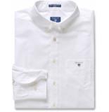Gant Heren overhemd button-down poplin regular fit wit