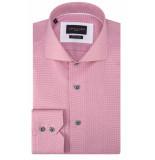 Cavallaro Slim fit overhemd met lange mouwen roze