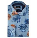 Cavallaro Slim fit overhemd met lange mouwen blauw