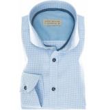 John Miller Heren overhemd licht witte ruit twill cutaway tailored fit