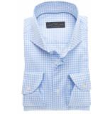 John Miller Heren overhemd licht fijn geruit extra cutaway tailored fit