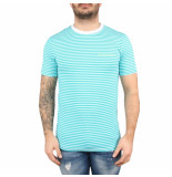 Malelions T-shirt striped blauw