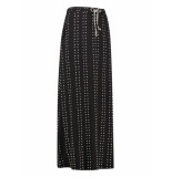 L.O.E.S. 20373 9011 loes dominga dotted stripe skirt black/off white