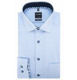 Olymp Modern fit overhemd met lange mouwen blauw