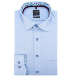 Olymp Modern fit overhemd met lange mouwen licht blauw