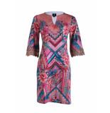 K-Design Jurk strass & print roze