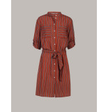 Summum 5s1149-11211 738 belted striped shirt dress mahogany