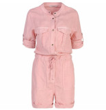 Summum 4s1956-11203 514 jumpsuit short flowy linen tencel powder pink