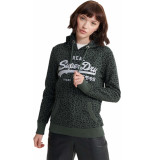 Superdry Vl animal aop hooded sweat grijs