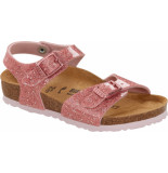 Birkenstock Rio plain cosmic sparkle old rose roze