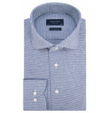 Profuomo Slim fit knitted overhemd met lange mouwen