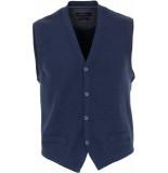 Casamoda Gilet gebreid comfort fit blauw