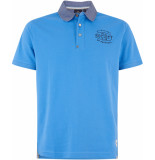 HV Polo Society poloshirt jayson blue oxford collar